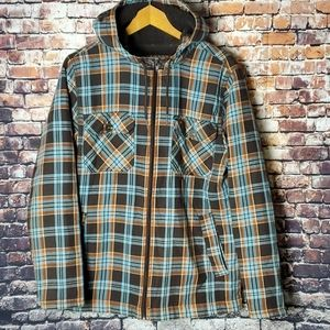 Mossimo flannel hooded jacket size M